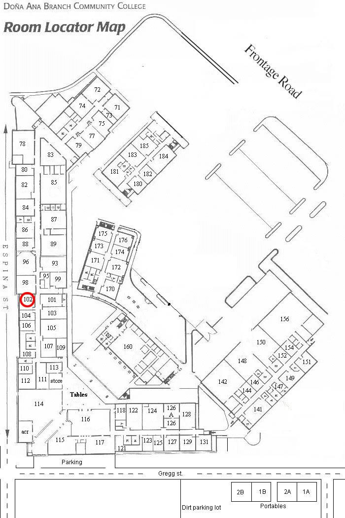 East Mesa Campus Map General Campus Map Campus Maps Alamo Colleges
